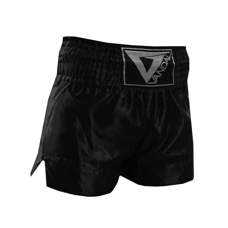 pantaloncini kick thai sanda in satin nero