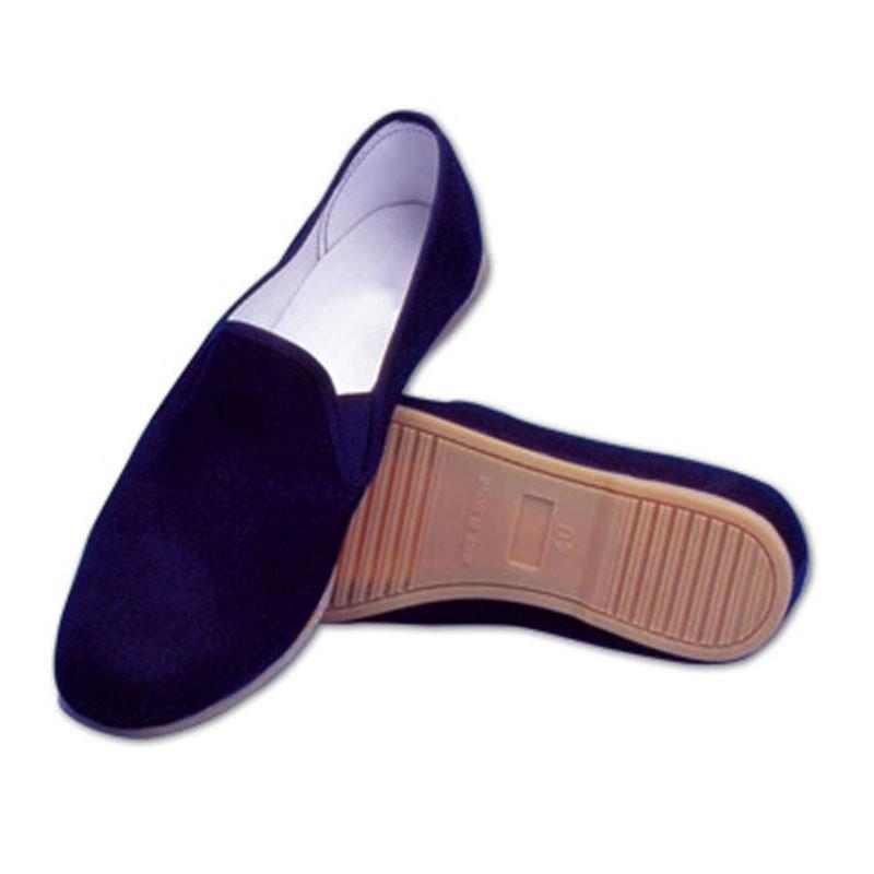 cinesine scarpe per kung fu tai chi in cotone nero e suola in gomma