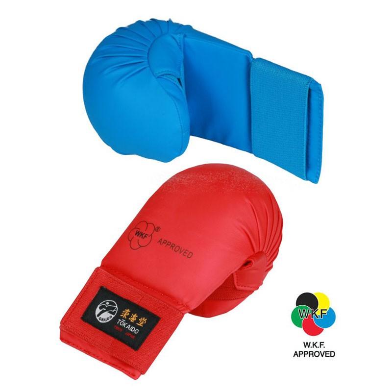 Guantini Tokaido karate kumite rosso o blu omologati WKF per gare e competizioni