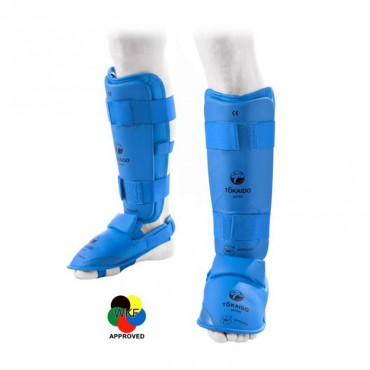 paratibia con piede staccabile tokaido blu o rosso per competizioni nazionali e internazionali
