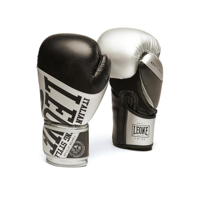 Leone guantoni da boxe Next nero/ argento