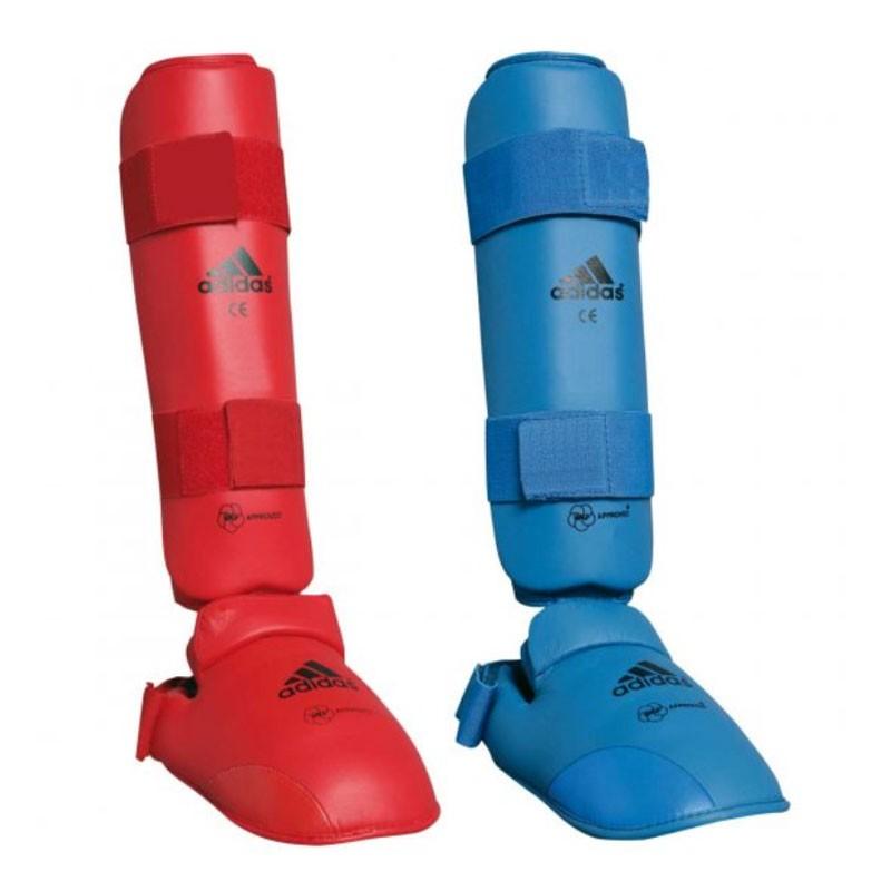 paratibia con piede adidas omologato WKF per gare e allenamento Karate kumite