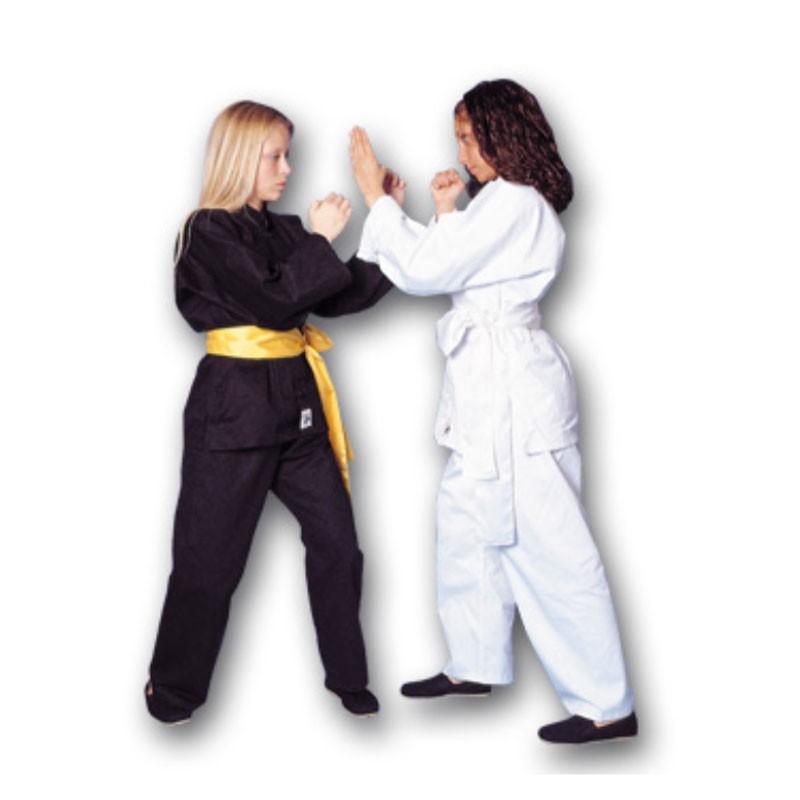 uniforme per kung fu in cotone nero