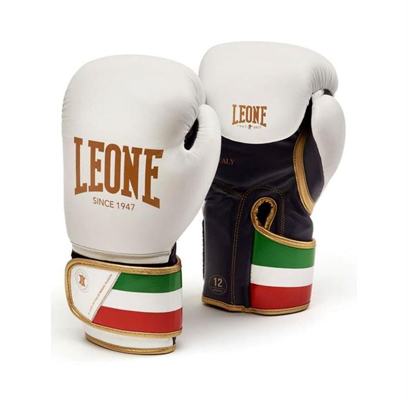 Leone guantone da boxe Italy in pelle bianco