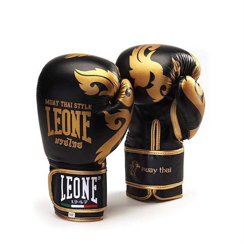 Leone guantoni Muay Thai nero