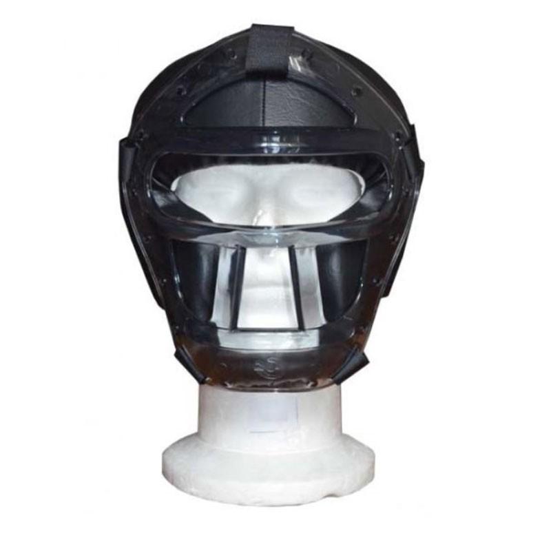 casco con grata in plastica