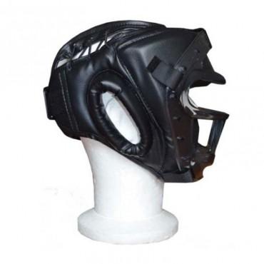 casco con grata per incontri arti marziali