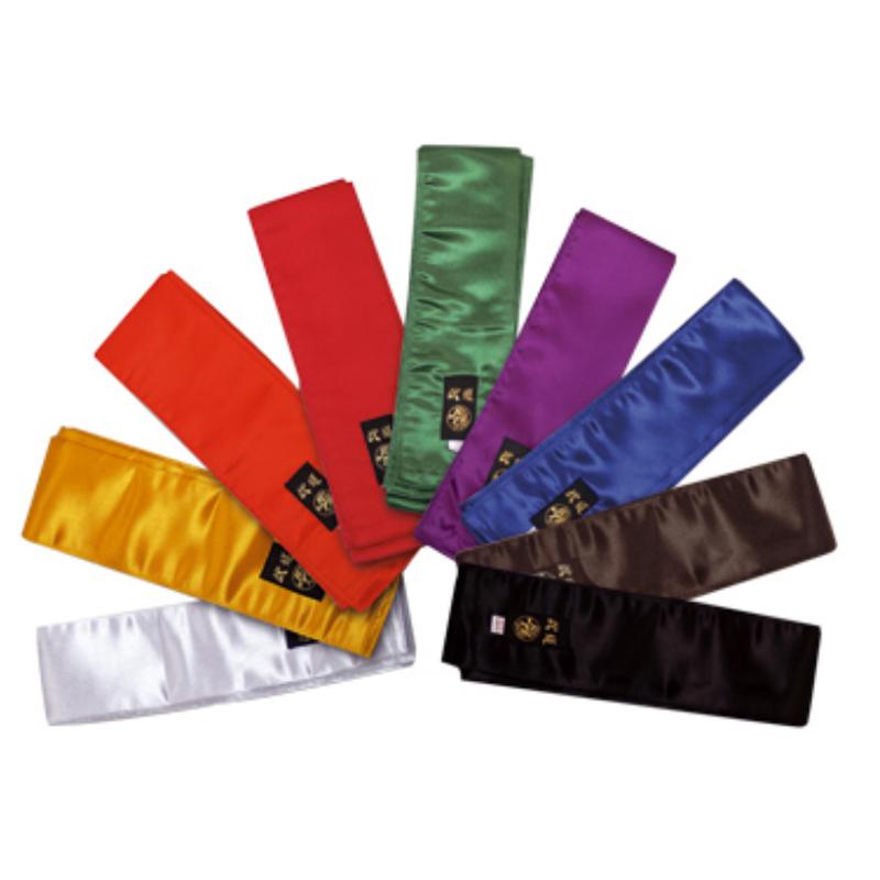 cinture per kung fu in satin raso vari colori