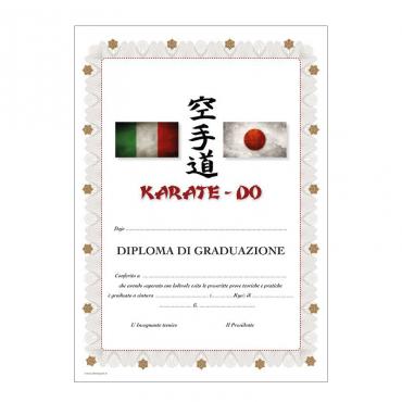 Diploma di graduazione Karate