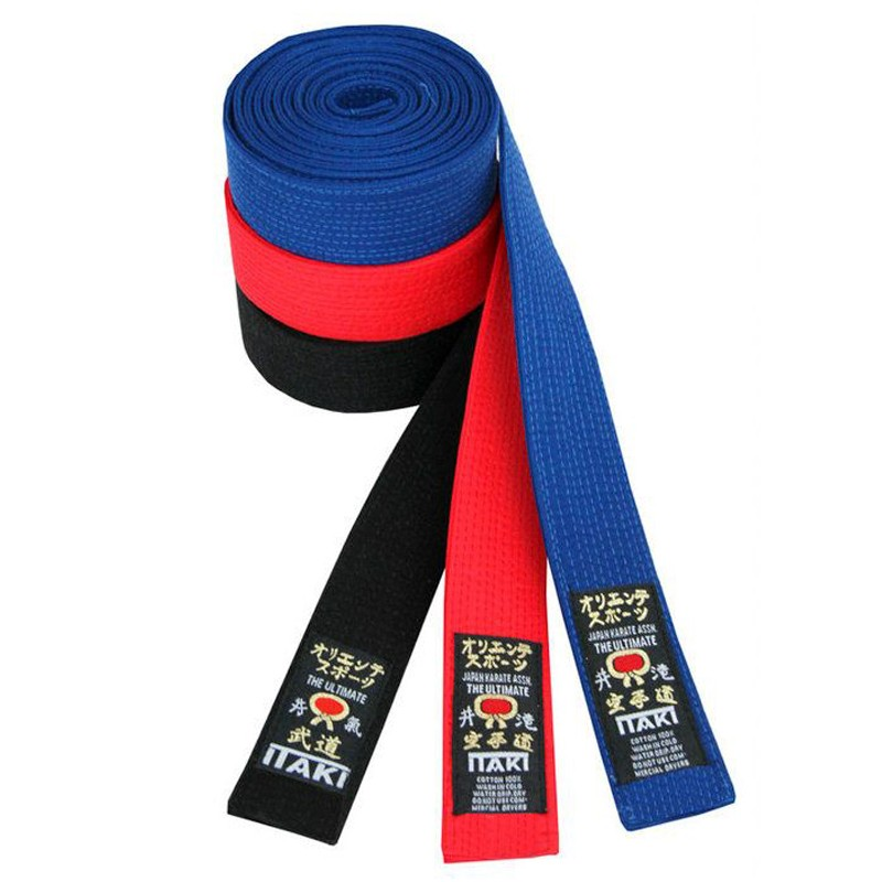 Cintura nera obi in cotone nero professionale 12 dodici cuciture