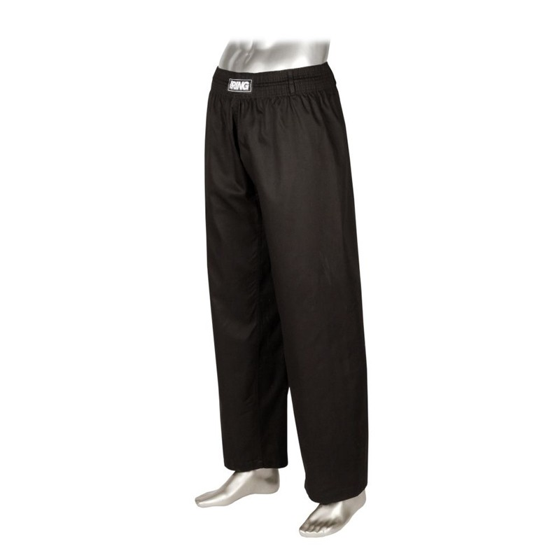 pantaloni kick boxing karate kobudo misto cotone nero ultra resistenti