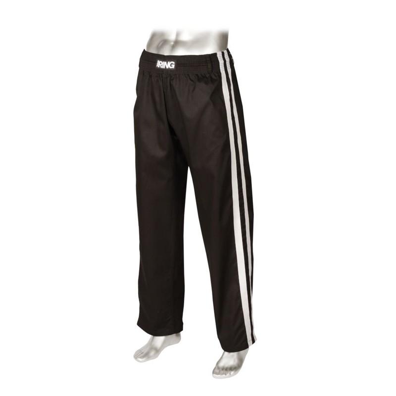 pantaloni misto otone nero con strisce laterali