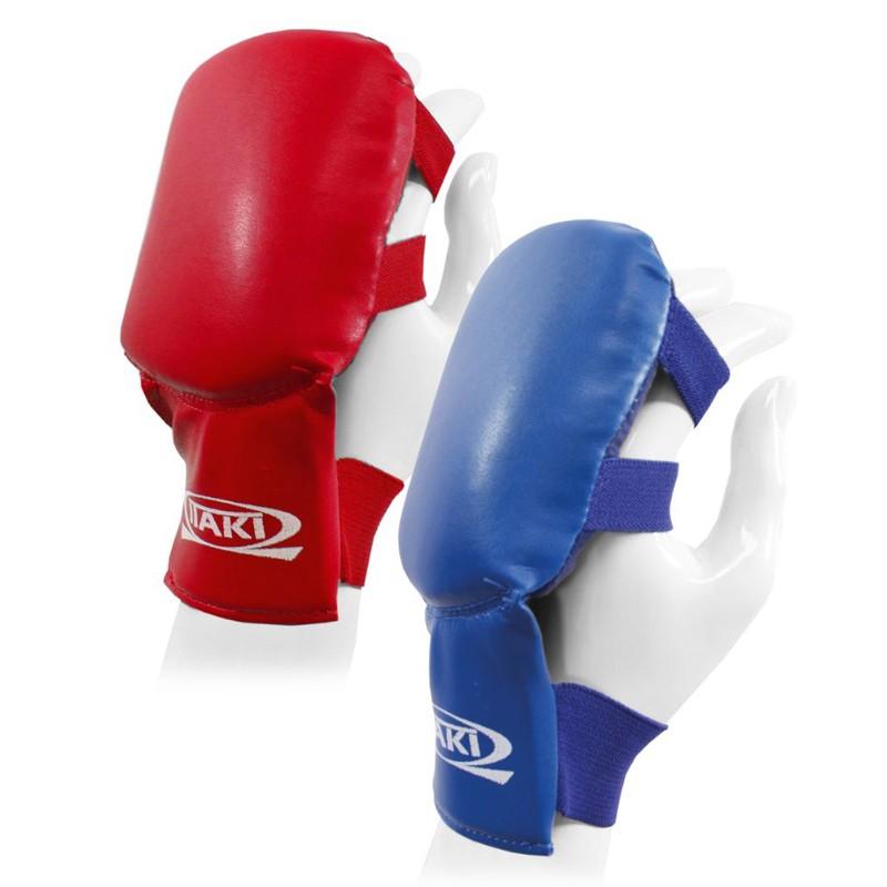 guantini paranocche per karate jujitsu blu o rosso