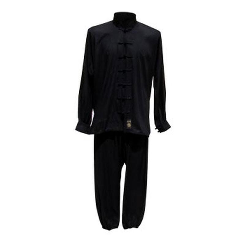 Uniforme per taichi e kungfu leggera nera