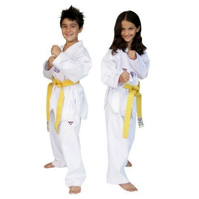 dobok taekwondo Itaki allenamento bianco con cintura