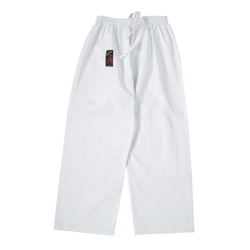 pantaloni bianchi per judo aikido elastico in vita