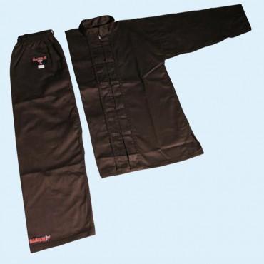 Uniforme Kung Fu cotone nero Barrus per bambini