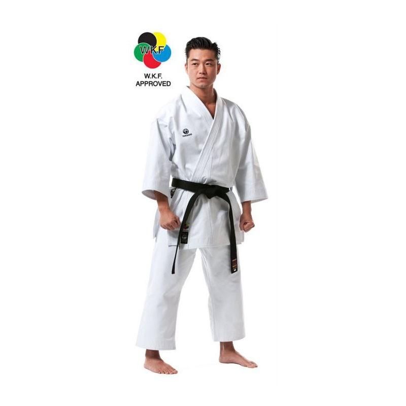 Karategi Tokaido Kata Master WKF cotone pesante bianco frusciante