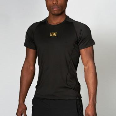 maglietta basic leone in cotone nero