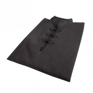 casacca nera kung fu tre alamari