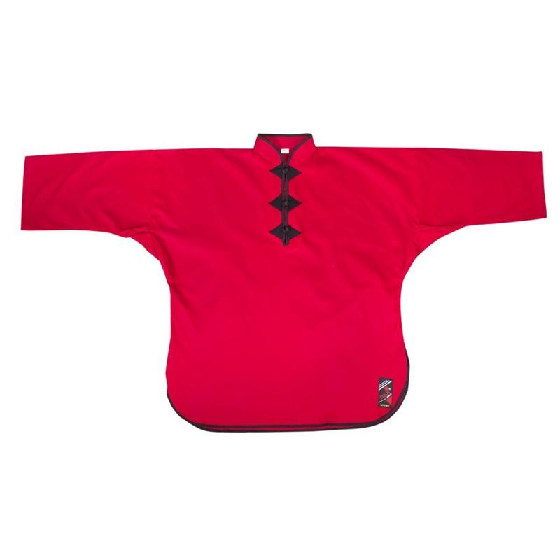 Giacca kung fu cotone rosso