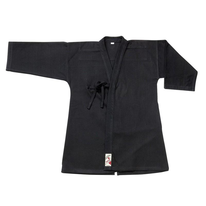Kendogi giacca Kendo cotone nero rinforzata con laccetti per chiusura