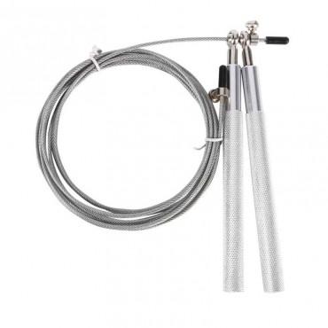 Coda per salti in acciaio super cross fit colore argento regolabile