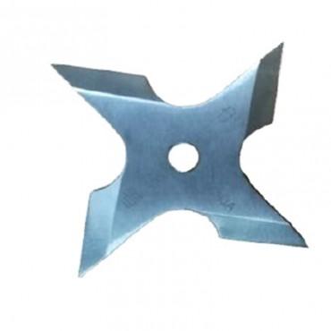 Shuriken 4 punte in acciaio affilato con custodia
