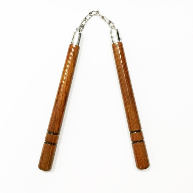 Nunchaku legno tondo con catena