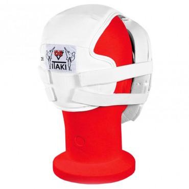 casco protezione viso in PU bianco e grata in policarbonato per gare karate kumite e protezione bambini