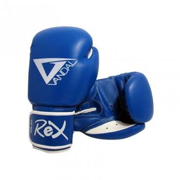 guantoni in vinile per sport da combattimento da ring blu rosso nero allenamento e incontri