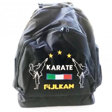 borsone zaino Itaki ricamo Karate nero