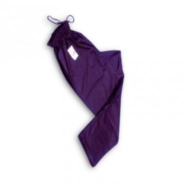 Pantaloni cotone nero aperto alla caviglia per karate kobudo kung fu